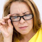 eye doctor, woman closing her eyes in Potomac, MD
