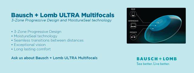 Eye doctor, bausch+lomb ultra multifocals in Philadelphia & North Wales, PA