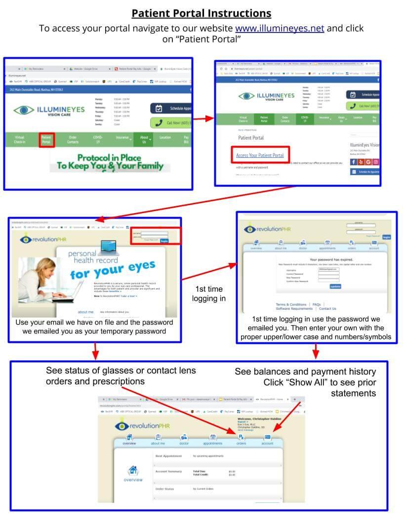 Patient Portal instructions walk through help