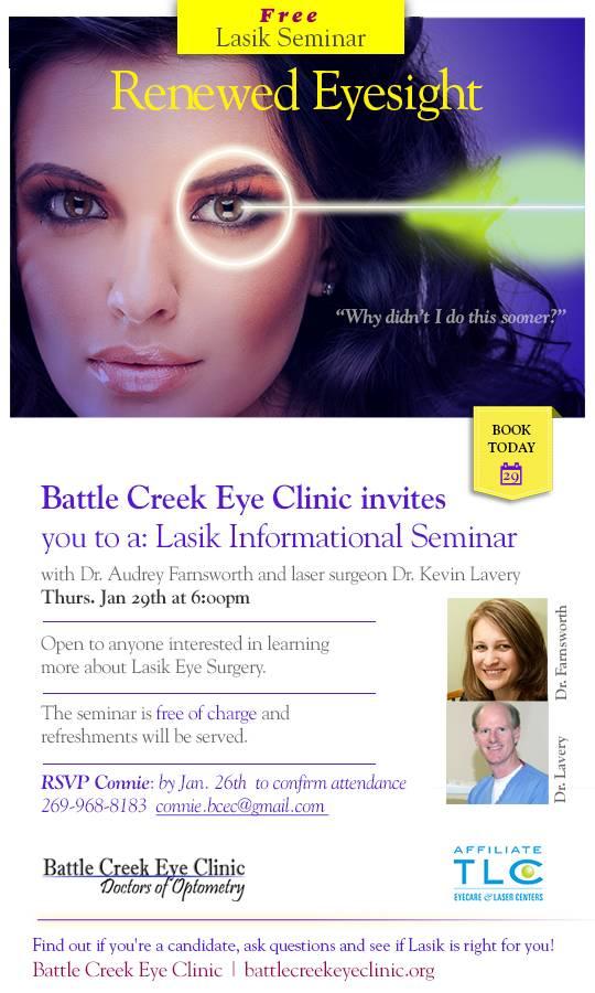 LASIK Information Seminar at Battle Creek Eye Clinic