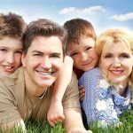 eye doctor, happy family, wearing contact lenses for myopia controlt in Fair Lawn, NJ