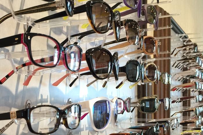 Eyeglasses Wall Display
