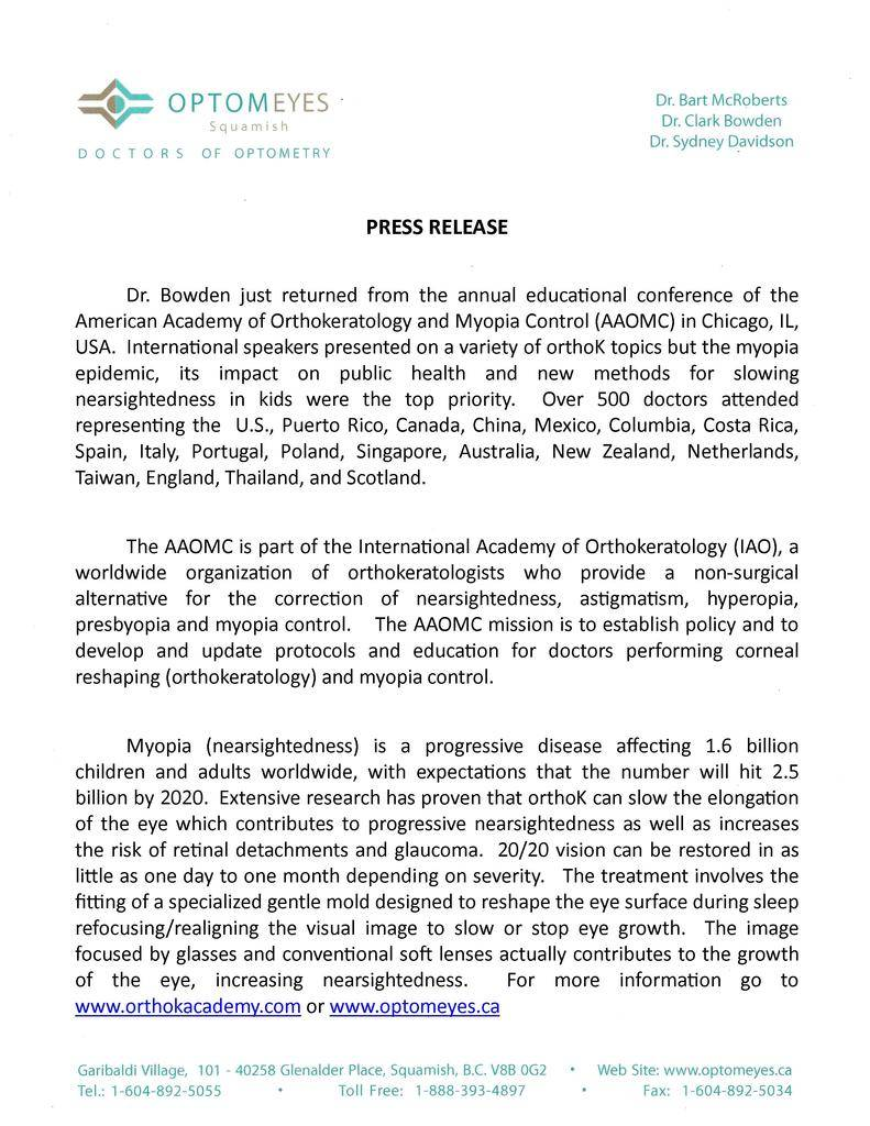 1 Press Release AOK Conference