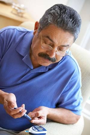 man-diabetes-test
