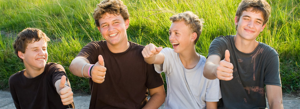 Eye care, teenagers giving the thumbs up in Myrtle Beach, SC