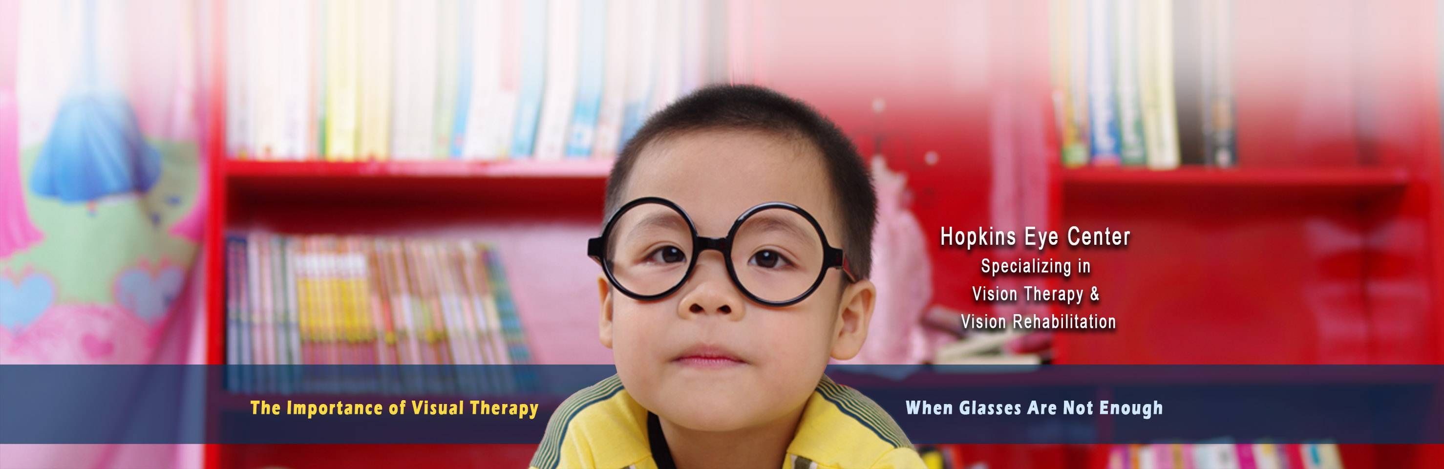 Boy with eyeglasses in Greenville, SC, and Vision Therapy facts