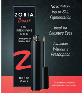 zoria boost w benefits listed