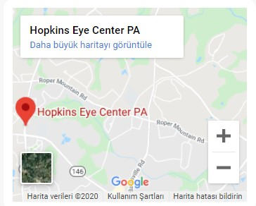 Hopkins Eye Center PA Map
