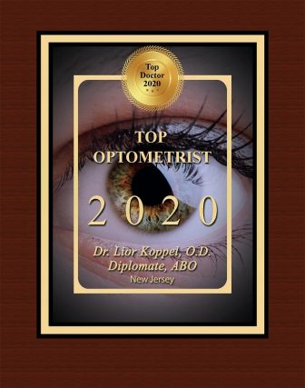 Dr. Lior Koppel, O.D, Top Optometrist Award, South Plainfield, New Jersey